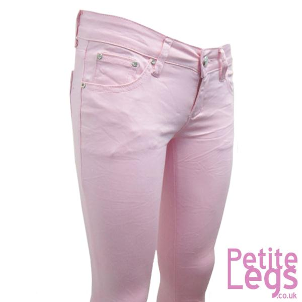 7e67608b9d0 Isabel Crinkle Skinny Jeans in Baby Pink UK Size 10 Petite Leg ...
